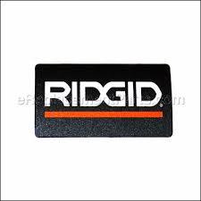 ridgid logo. logo plate ridgid c