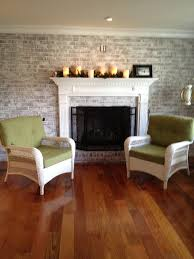 image of home brick wall fireplace