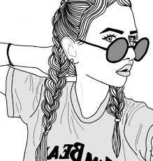 Tumblr Girl Coloring Pages Elegant 27 Best Drawing Images On
