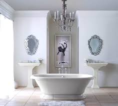 traditional bathroom lighting. Retrieve White Bathroom With Traditional Chandelier Light Fixtures Picture Lighting O