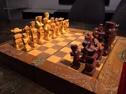 Vintage Wooden Board Games Antique Wooden Hand Carved Chess Set Collectors Weekly 67