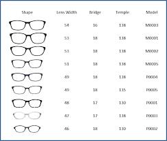 Sunglasses Frame Size Chart Active Eyewear Eyecare Providers