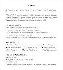General Laborer Resume Mesmerizing Sample Construction Worker Resume Construction Resume Sample
