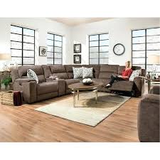power reclining sectional coco brown 6 piece sofa imprint furniture pulaski leather costco