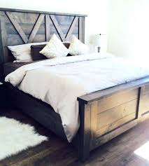 farmhouse furniture style. Barn Door Farmhouse Bed Style Picture Frames Furniture E