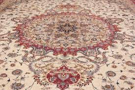 oversize silk and wool vintage persian tabriz rug 60024 medallion nazmiyal