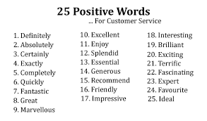 Customer Service In 3 Words Top 25 Positive Words Phrases And Empathy Statements