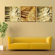 new arrival modern 3 panel classical piano music notes paintings  on piano harp wall art with perfect musical wall art frieze wall art collections