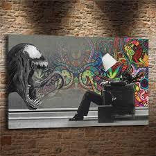 abstract marvel venom 1 pieces canvas prints wall art oil painting home decor unframed framed