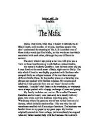 mafia creative writing essay gcse english marked by teachers com page 1 zoom in