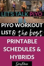 piyo calendar full 60 day schedule