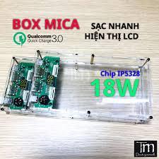 Box Sạc Dự Phòng Mica Trong Suốt 6-8 cell Sạc Nhanh QC3.0 - Đế sạc không  dây Nhãn hàng No Brand