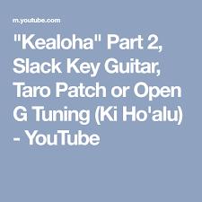 Hawaiian Slack Key Guitar Chord Chart