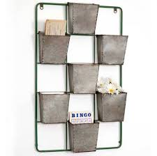 metal wall pocket organizer