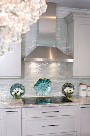 kitchen backsplash glass tile. Unique Backsplash Iridescent Glass Tile By Lunada Bay Stainless Hood With Taupe Cabinets  Color Looks Good To Kitchen Backsplash Glass Tile L