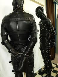 Gay bondage gimp suit