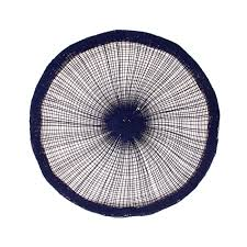 plain colour round table mat in paper
