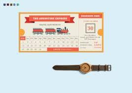 Blank Train Ticket Template Train Ticket Template Printable