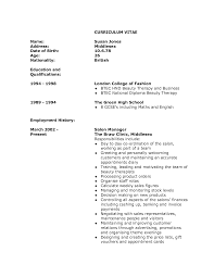 therapist job description for resume recentresumes com cv for a beautician beautician cv template cv