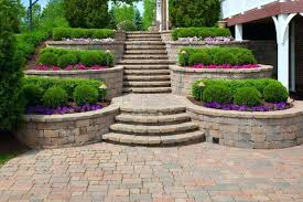 outdoor steps ideas this outdoor garden shows an awesome display of clipped hedges both square shaped and deck steps design ideas