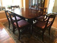 drop leaf dining table and 6 chairs. antique duncan phyfe drop leaf dining table w/ 6 chairs, beautiful condition! and chairs l