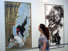 Contemporary Chinese paintings on display in Suzhou (1/8)