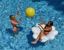 pool round raft. Unique Raft Daisy Ball U0026 Ring Set Giant Pool Float Raft Game Swimline 90548 Beach  Inflatable For Round L