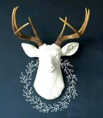 faux moose head wall mount faux moose head wall mount faux animal head wall decor white