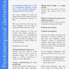 dementia fact sheet factsheet 5 what is semantic dementia ftd talk