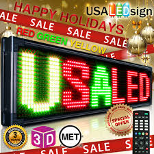 programmable led sign led sign 69 x19 26mm tri color outdoor programmable scrolling message board