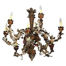 chandeliers capodimonte porcelain chandelier iron tole and pink rose pi