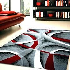 red and black rug black white