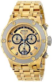 17 best ideas about gold watch for men invicta gold gold watches men invicta men s 80489 subaqua gold ion plated watch this watch easy to as the background color combination works well
