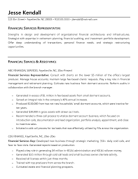 Sample Resume For Financial Service Representative Financial Sales Representative Sample Resume Mitocadorcoreano 1