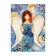 April, Angel of the Light Mixed Media by Dawn Wenzl