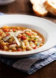Pasta e Fagioli - Italian Pasta Bean Soup - Just a Little Bit of Bacon