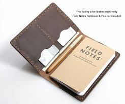 leather journal cover for field notes moleskine cahier cover handmade vintage 4 4 of 6 see more