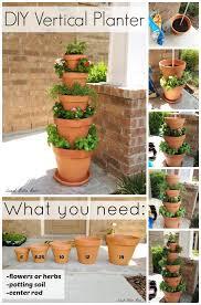 stunning clay pot vertical planter for your garden diy gardening
