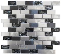 12 x12 eden mosaic stainless steel and led glass mosaic mix single sheet