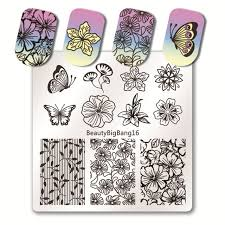 <b>BeautyBigBang</b> 1 PC <b>6*6cm</b> Square Nail <b>Stamping Plates</b> Lace ...