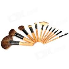 coolflower professional portable cosmetic makeup brushes 12 pcs