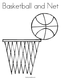47 Coloring Pages Basketball Basketball Coloring Pages Free