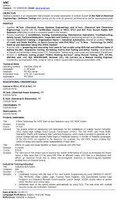 Electrical Engineer Fresher Resume Sample Gallery Creawizard Com