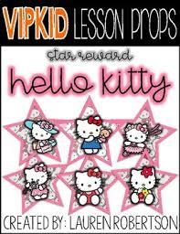 Hello Kitty Reward Chart Free Hello Kitty Rewards Worksheets Teaching Resources Tpt