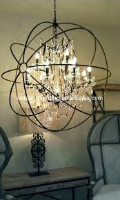bronze orb chandelier spherical elegant crystal wire sphere with oil rubbed light