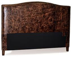 old world brown leather headboard for bed with brass nail head trim transitional headboards by for now designs