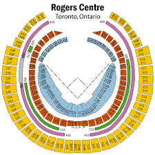 Rogers Skydome Seating Chart Rogers Centre Virtual Seating Rogers Centre Seating Chart