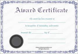 free recognition certificates award certificate template free download inspirational