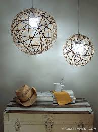 3. Use bendy bamboo to create these pendant lamps.