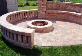 image of how to build a firepit with pavers patio